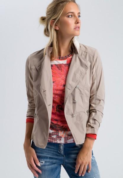 Jacket with crocodile decor