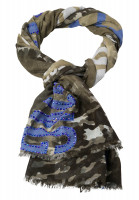 Scarf with abstract camouflage print