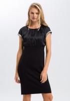 Midi dress with highlights