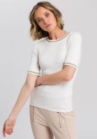 Shirt with striped cuffs