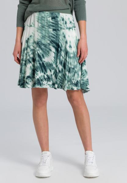 Skirt with batik print