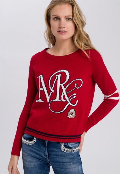 Jumper with writing inlay