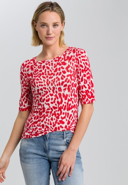 T-shirt with leopard print