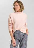 Boxy sweater in structured knit