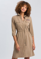 Safari dress made of sustainable twill with neon badge