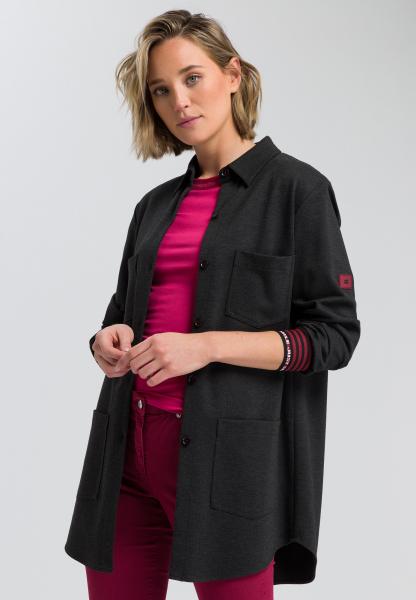 Shirt Jacket made of mottled jersey