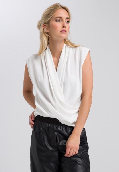 Blouse top in wrap-around look