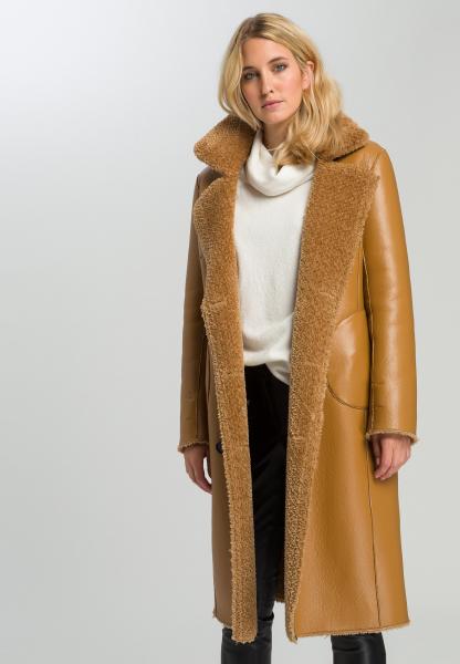Reversible coat Faux fur