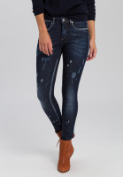 Jeans with destroyed effects
