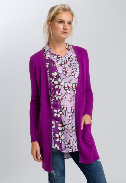 Knitted cardigan open-fronted