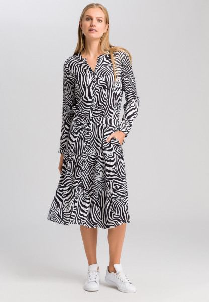 Dress in zebra print