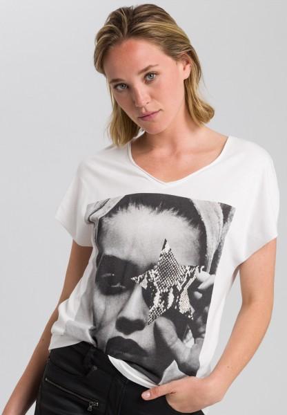 Shirt with photo print motif