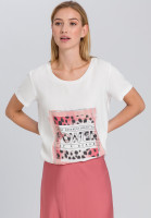 T-shirt with Animal-Patchworkprint
