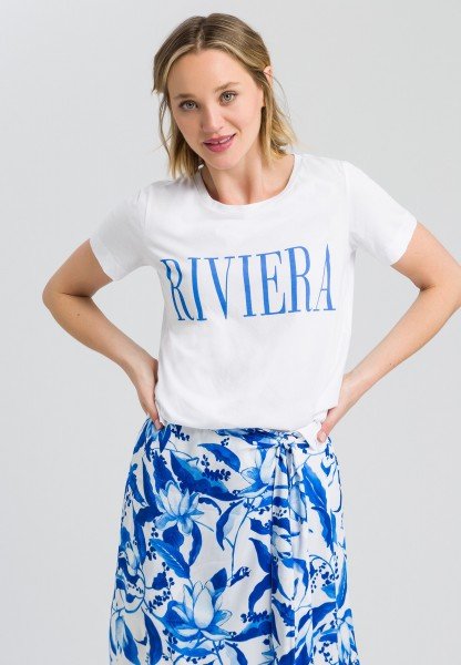 T-shirt with Riviera print