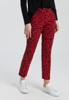 Trousers with an animal print