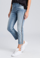 Loose fit jeans with side stripes