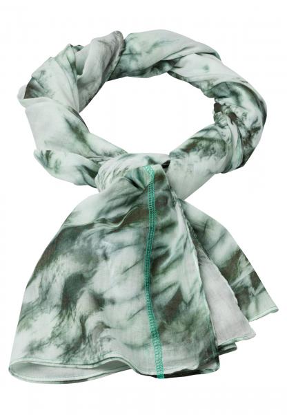 Rectangular scarf in tie-dye print