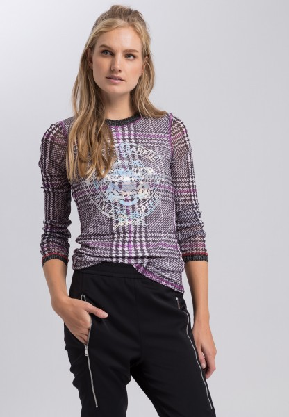 Mesh shirt in the pattern mix