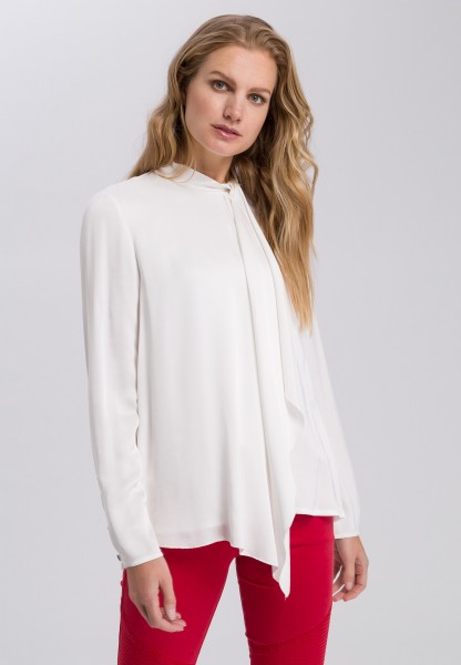 Blouse with draped front section