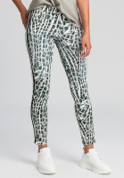 5-pocket leggings with eye-catching animal print and side band