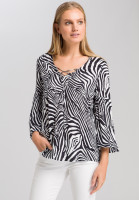Tunic with zebra print