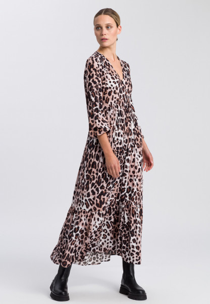 Dress with leo print