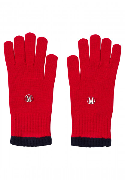 Gloves with logo badge