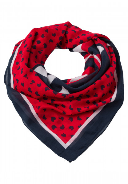 Square scarf With logo print
