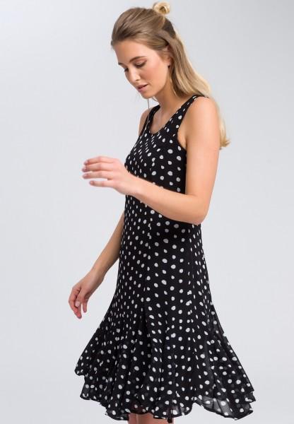 Midi dress with a polka dot pattern