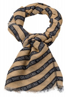 Rectangular scarf With lettering strip