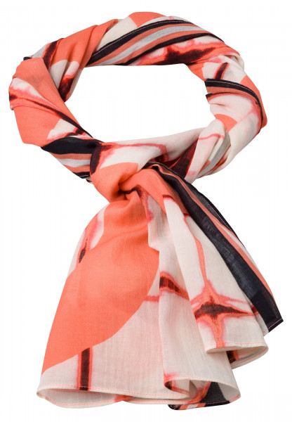 Rectangular scarf in graphical tie-dye print