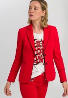 Blazer with contrast piping made of elastic jersey