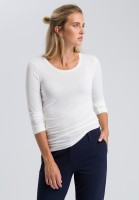 Long-sleeve shirt with round neckline