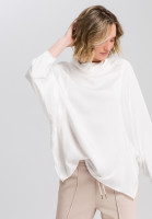 Satin blouse batwing-style
