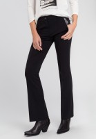 Pants with leg flared