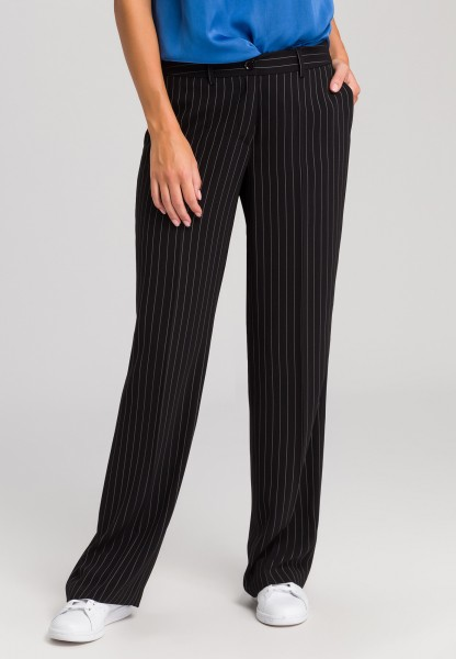 Palazzo trousers in a pin stripe look