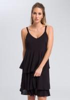 Midi dress in flounce-look