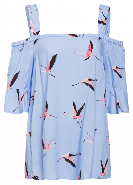 Shirt mit Flamingo-Print