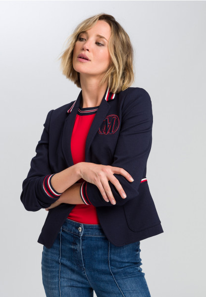 Blazer Made of structured jersey with badge