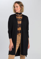 Knitted coat with lockless front