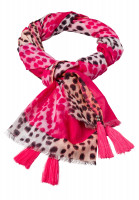 Rectangular scarf in leopard print style