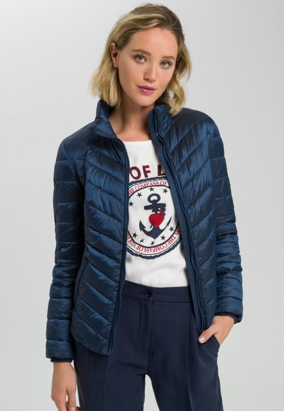Quilted jacket with artificial down