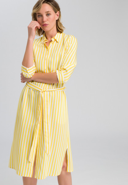 Shirt blouse dress in striped design