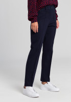 Woven trousers with tucks