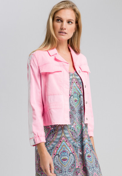 Jacket with glossy stripes