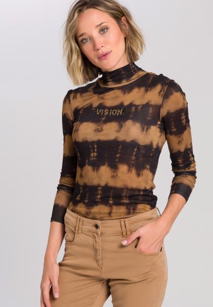 Shirt With striped batik print