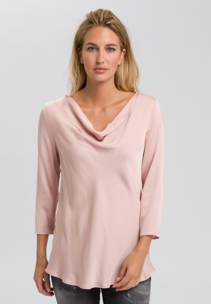 Blouse with waterfall neckline