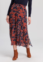 Maxi skirt with flower print