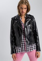 Biker jacket patent leather