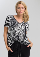 Shirt blouse with ethno-print